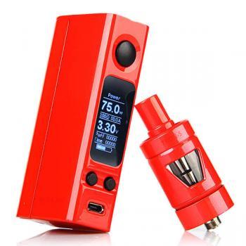 Боксмод Joyetech eVic VTC Mini 75W +атомайзер Tron-S ( красный )